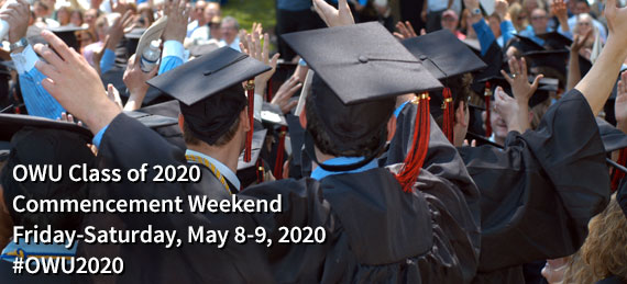 Ohio State University Graduation 2020.Commencement Weekend Ohio Wesleyan University