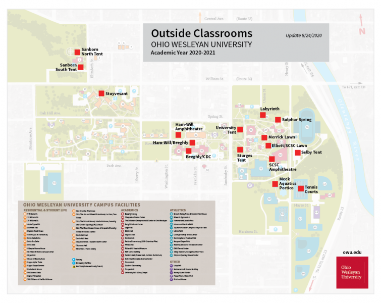 OWU Campus Map - Outdoor Classrooms